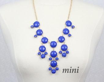 Blue Bubble Necklace  Bib Necklace Mini Version