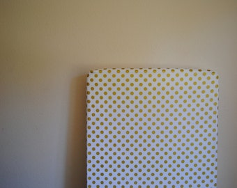 White with Metallic Gold Polka Dots Crib Sheet