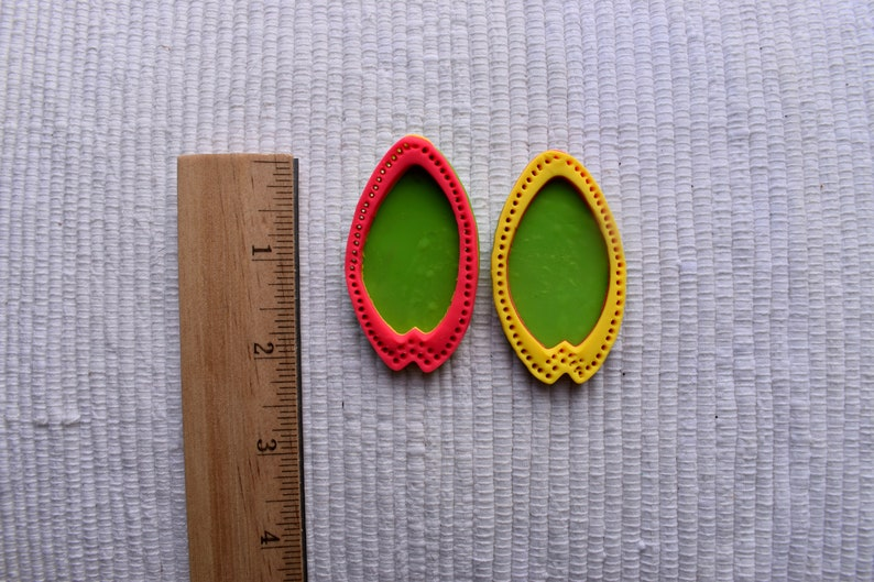 Polymer Clay Earrings Lisa Frank Statement Earring Mid Century Modern Tulip Style Stud 80s earring Handmade 90s earring The Shannon