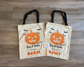 Personalized Halloween Bag, Halloween Sack for trick or treating, Name Embroidered, Kelowna, Canada