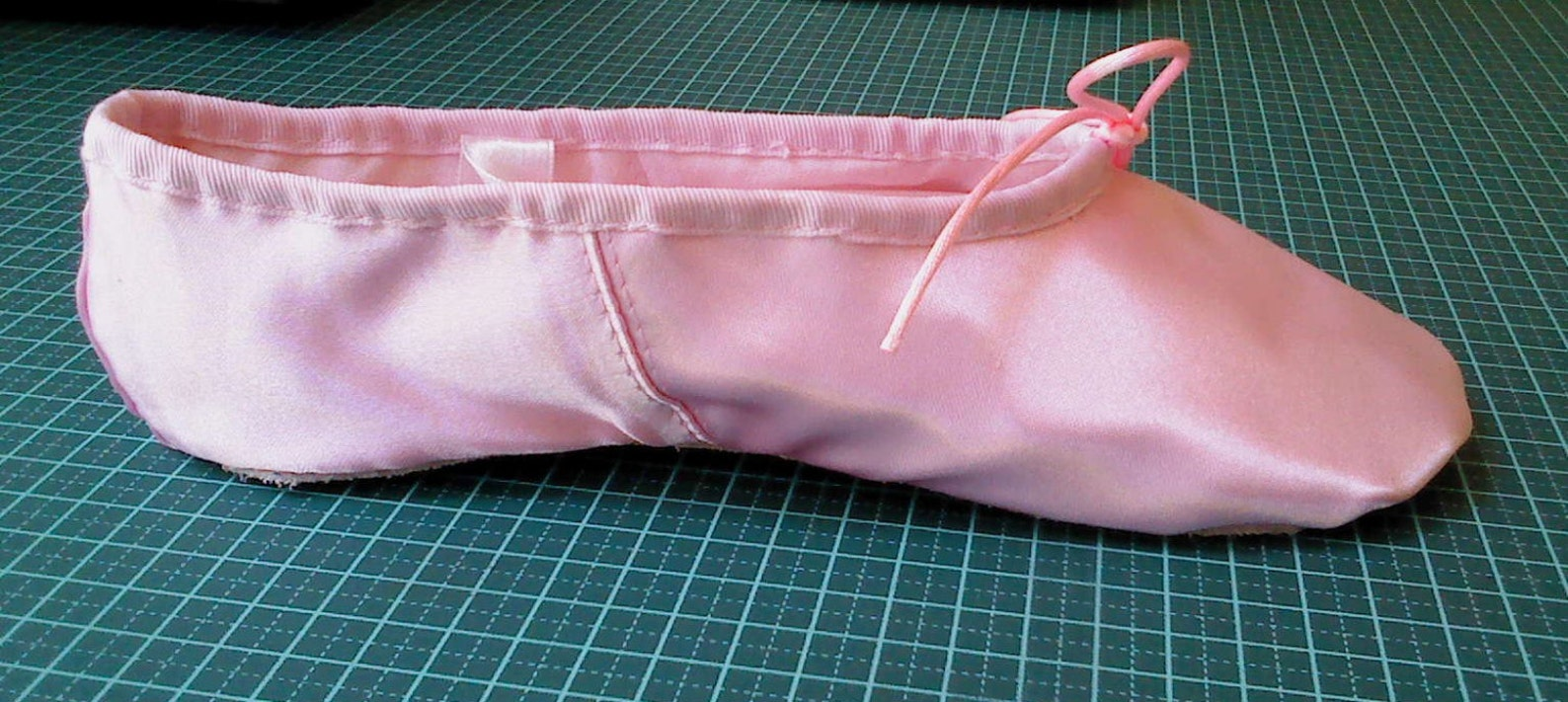 pink satin ballet slippers (adults sizes) full sole