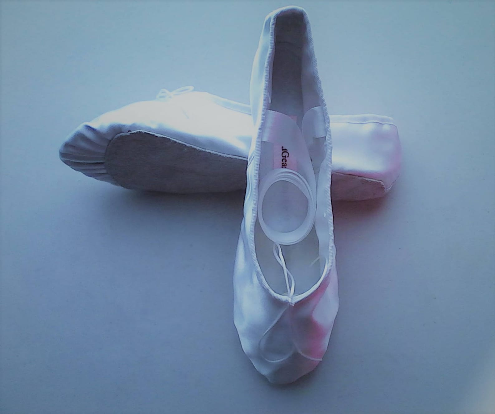 white satin ballet slippers - full soles or split soles