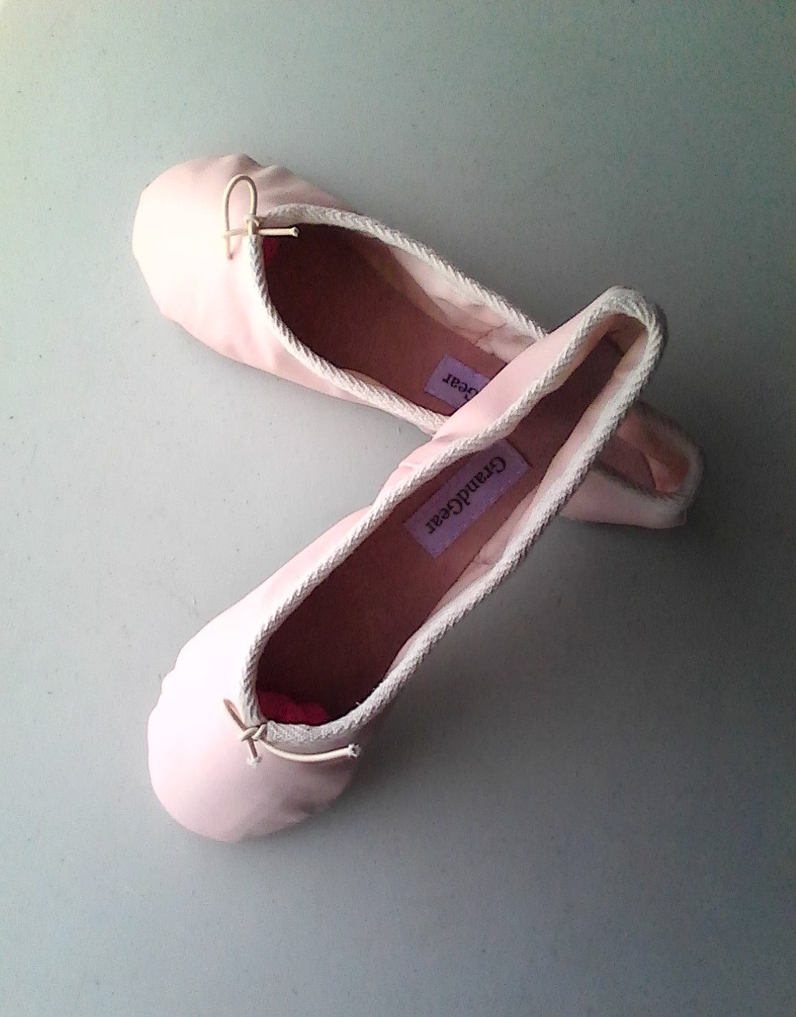 ballet pink leather ballet slippers - adult/women's sizes - full sole or split sole