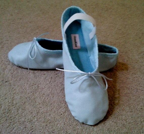 Pâle taille adulte bleu ballerines ballerines ballerines en cuir - semelle pleine- | De Nouveaux Produits 2019  5efcad