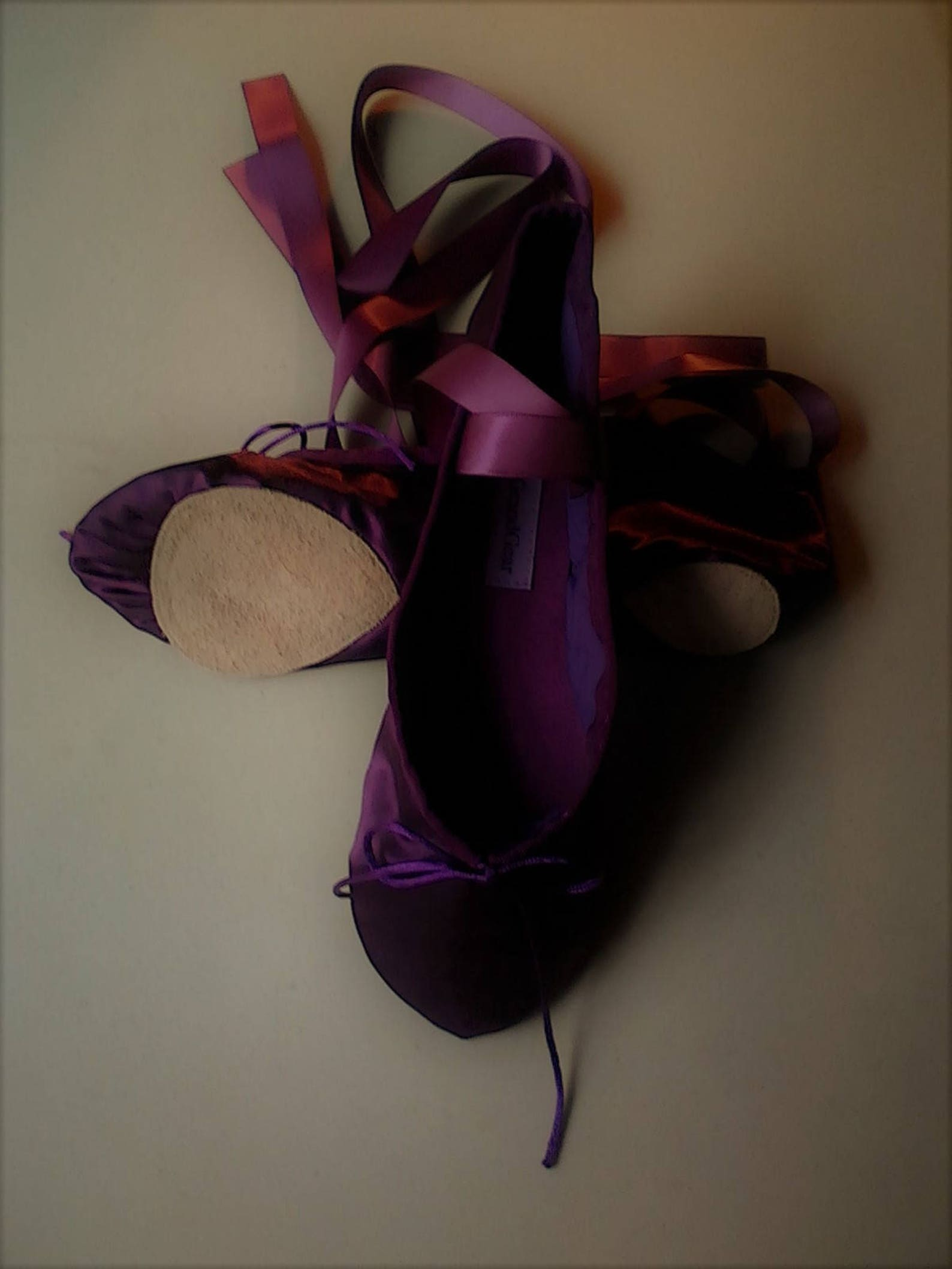 dark plum purple satin ballet shoes - split sole (or full sole) - adult sizes