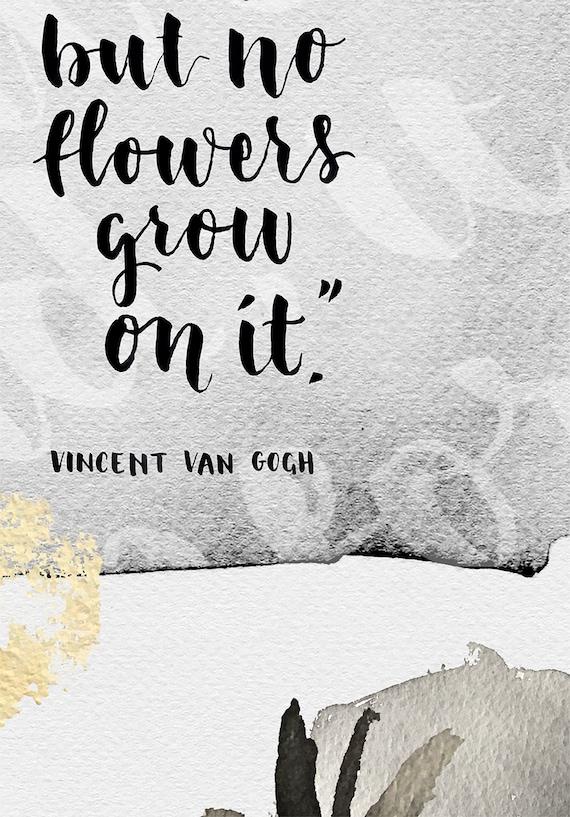 Inspirujące Cytaty Inspirująca Sztuka Cytat Van Gogh Van Etsy