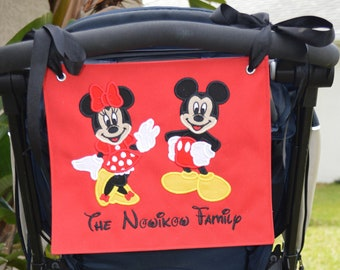Stroller Spotter Family Banner with 2 characters
