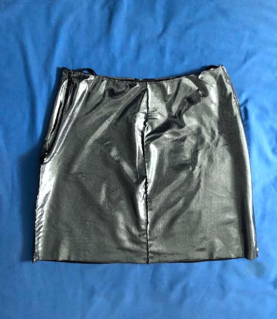 Moschino metallic silver mini skirt