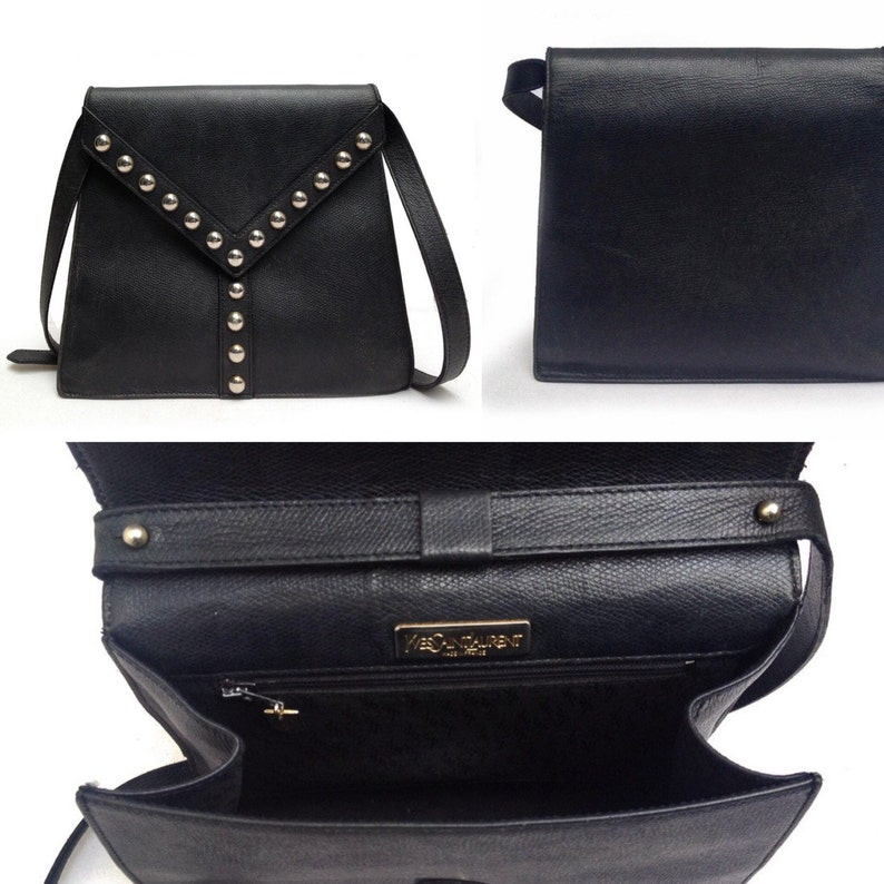 a8e4013e5084 YVES SAINT LAURENT envelope clutch bag and matching wallet