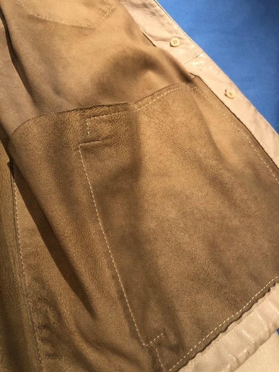 Prada leather shirt jacket - image 4
