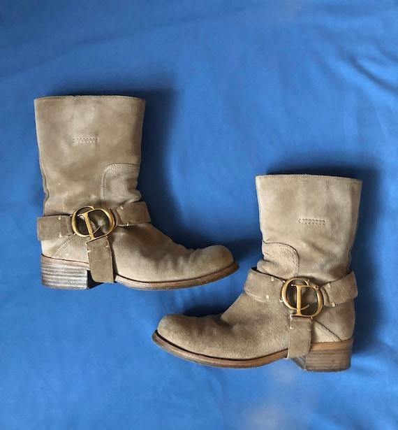 Christian Dior biker boots
