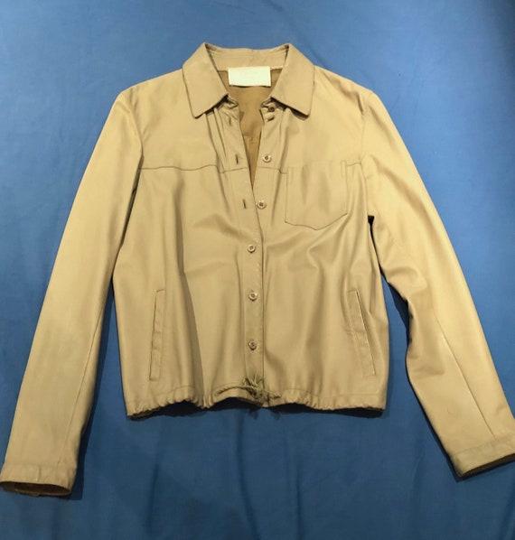 Prada leather shirt jacket