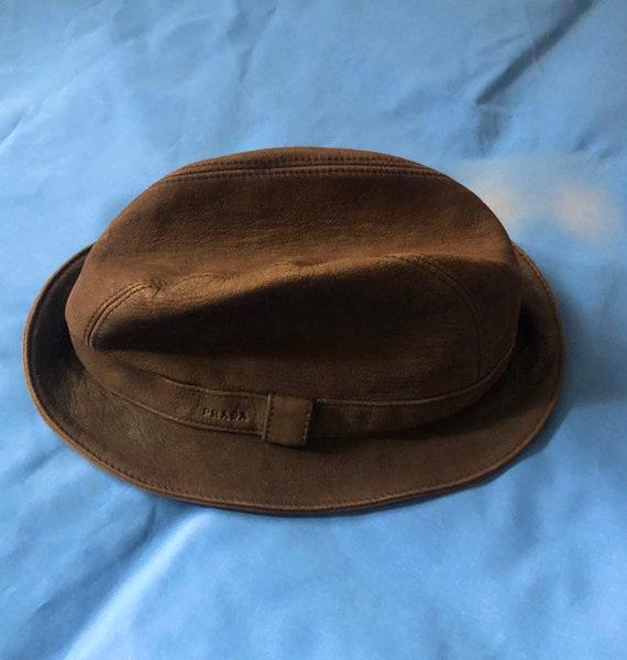 Prada suede bucket hat