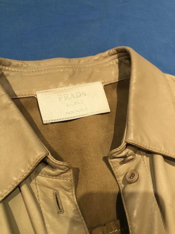 Prada leather shirt jacket - image 7