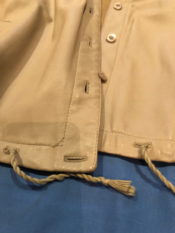 Prada leather shirt jacket - image 3