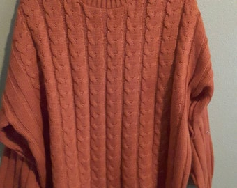 Women's Bobbie Brooks Plus Rustic Long Sleeve Sweater Size 18/20
