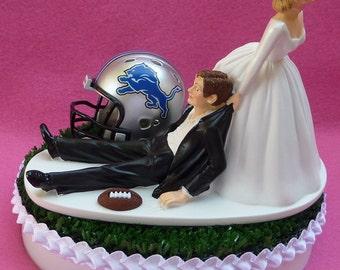 Garter Set Detroit Lions Keepsake and Tosser Sports Themed Wedding