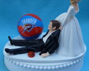 Wedding Garter Set Oklahoma City Thunder OKC Themed Lace and Satin Bridal Garters