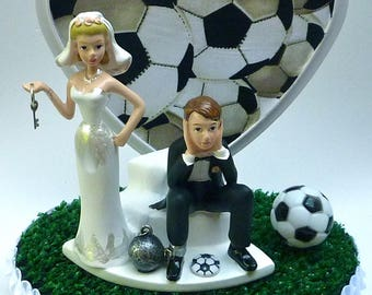 Wedding Cake Topper Manchester United Man U. Soccer Themed w/ | Etsy