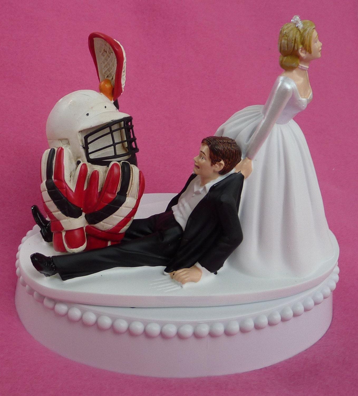 Wedding Cake Topper Lacrosse Player Helmet Gloves Stick Sports | Etsy