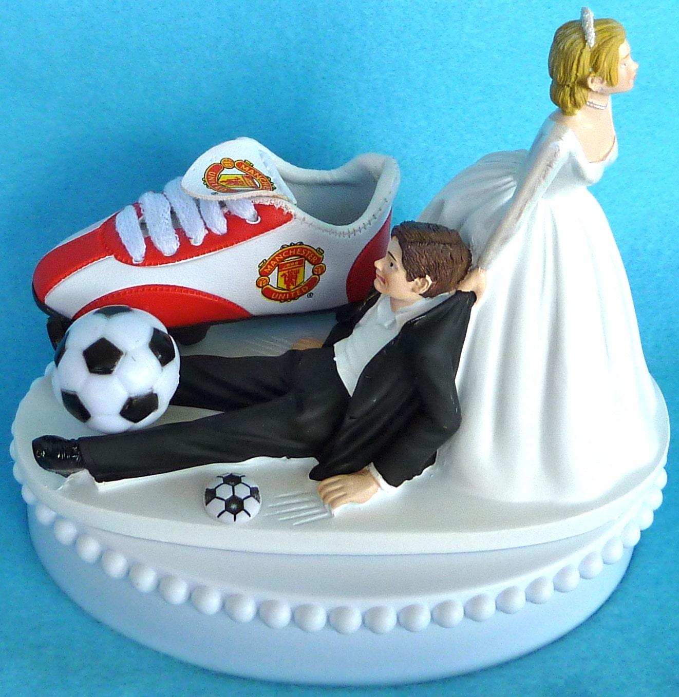 Wedding Cake Topper Manchester United Man U Soccer Themed W Etsy