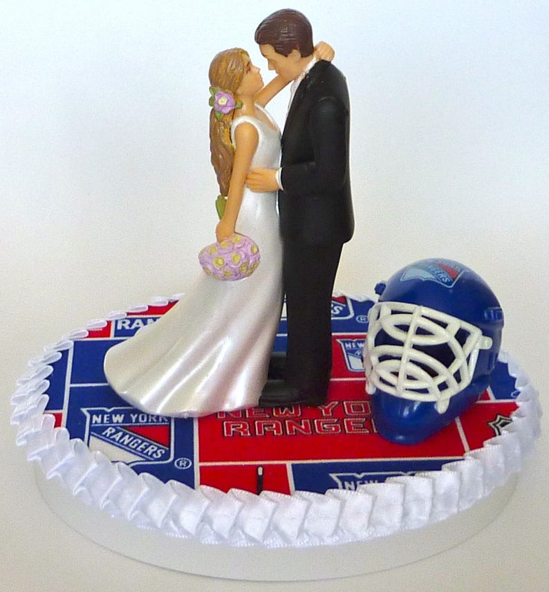 Wedding Cake Topper New York Rangers Themed NY Long Haired