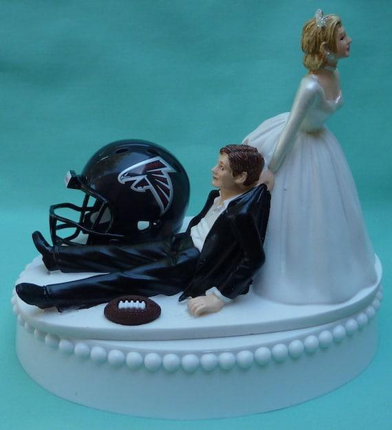 Atlanta Falcons  Wedding Bride Groom Grooms Cake Topper Bridal Football team