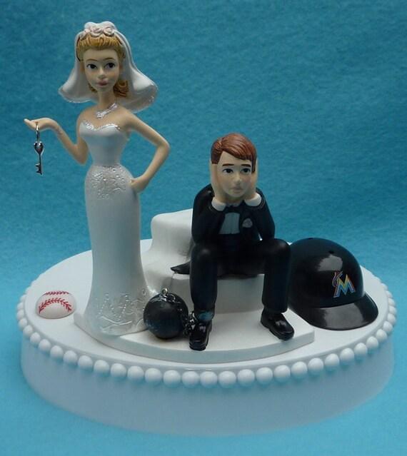 Miami Marlins Personalised Wedding Garter