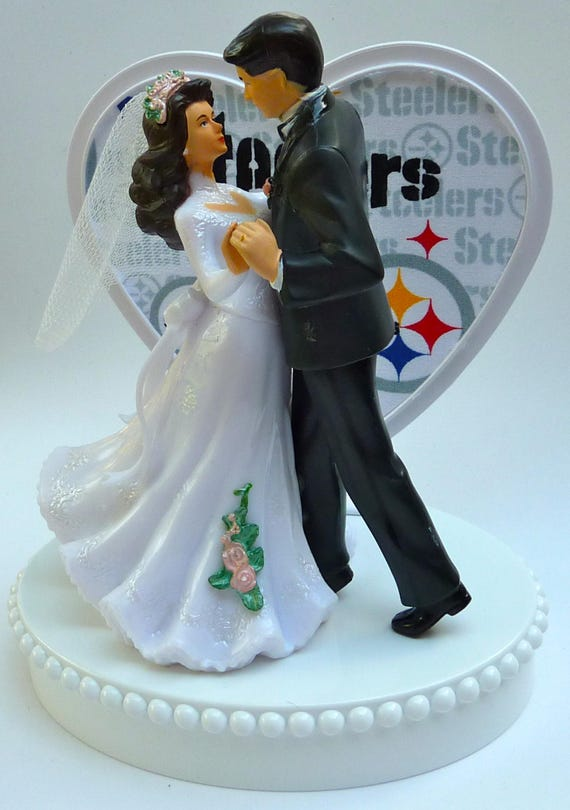 wedding cake toppers pittsburgh pa wedding cake topper pittsburgh steelers themed football 26582