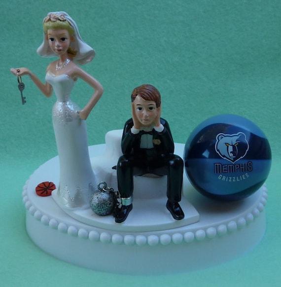 Wedding Cake Topper Memphis Grizzlies Basketball Themed Ball Etsy