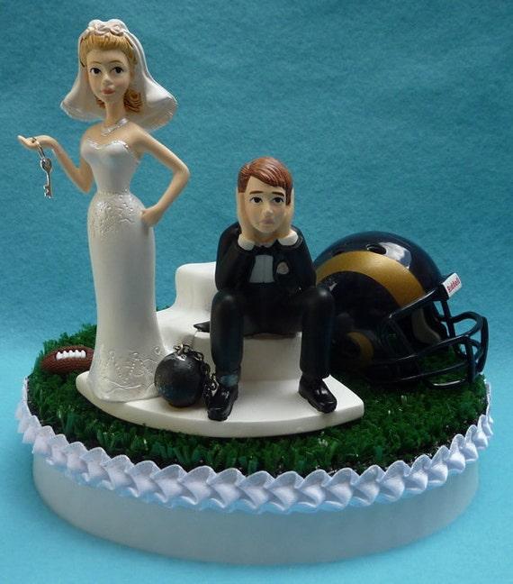 Wedding Cake Topper Los Angeles Rams La Football Themed Ball Etsy