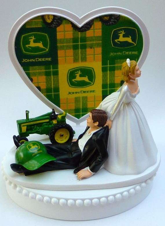 Wedding Cake Toppers John Deere Tractor | Cake Zone