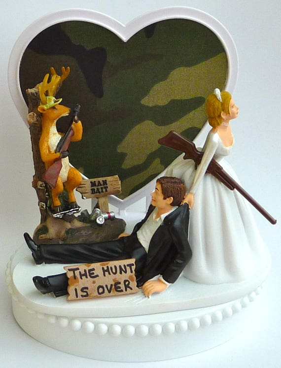 Wedding Cake Topper Deer Hunting Man Bait Themed W Bridal