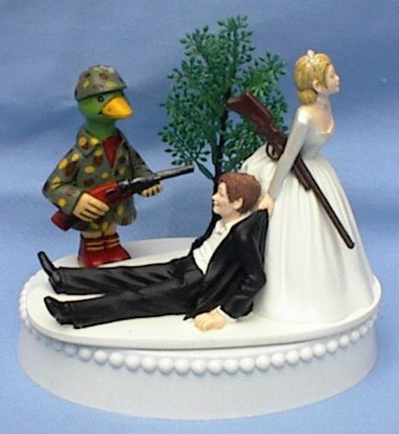 hunter wedding cake toppers wedding cake topper duck rifle themed w 16209