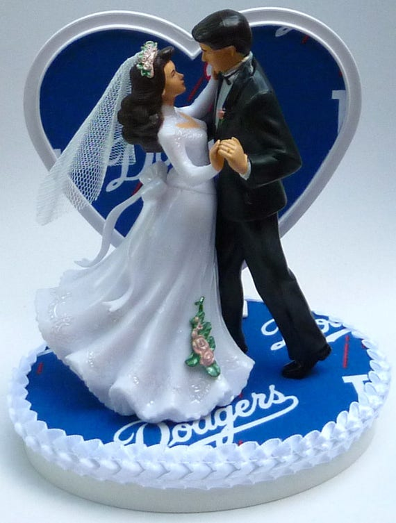 baseball wedding cake toppers canada wedding cake topper los angeles dodgers baseball themed la 11093
