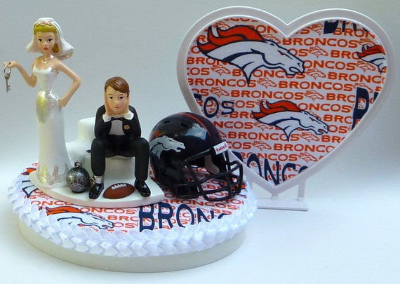 wedding cake toppers denver co wedding cake topper denver broncos football themed 26450