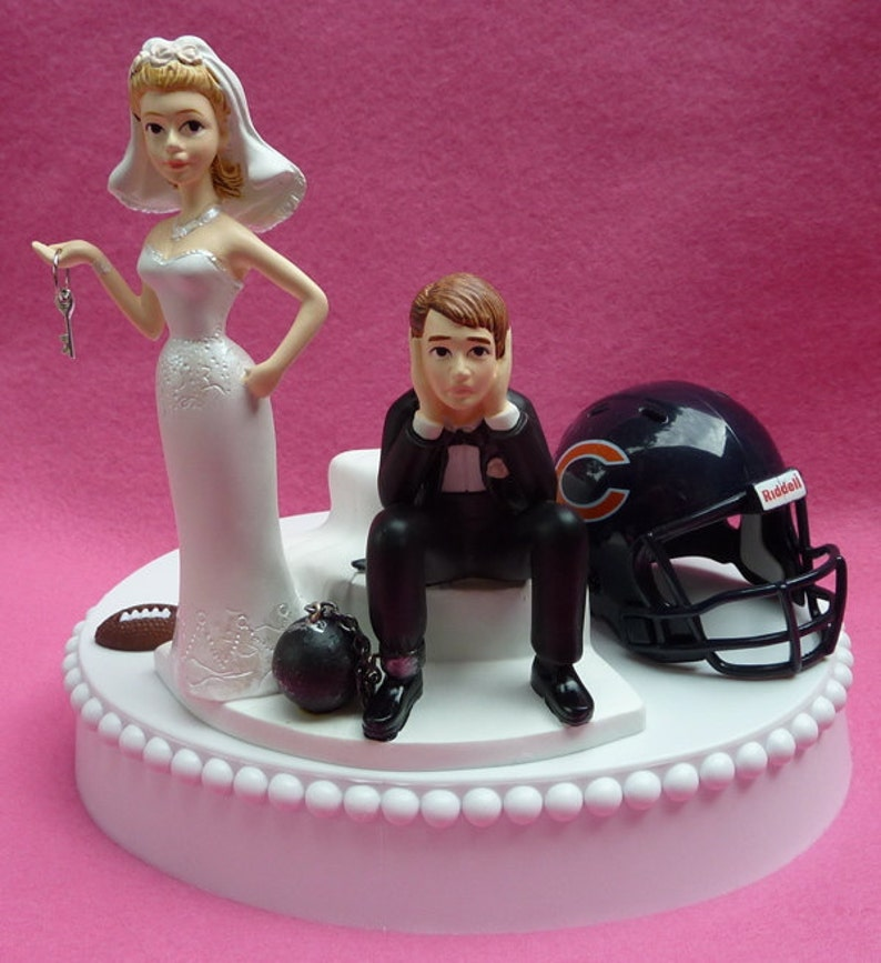 Prime Wedding Cake Topper Chicago Bears Football Themed Ball And Etsy Funny Birthday Cards Online Fluifree Goldxyz
