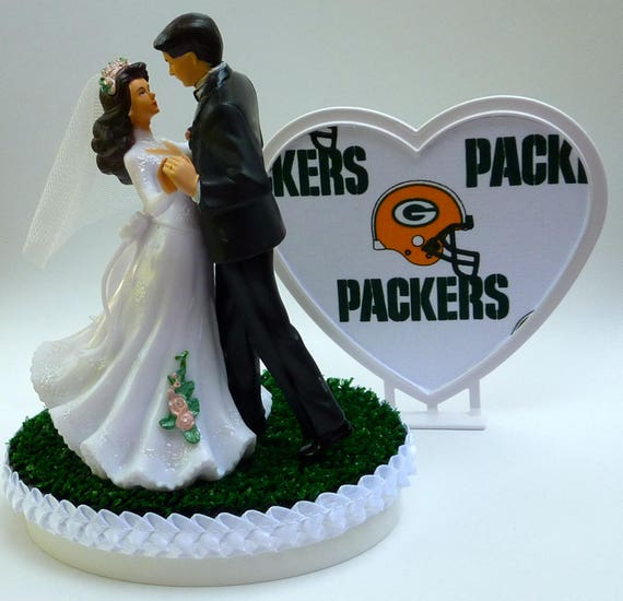 green bay packers wedding cake topper wedding cake topper green bay packers football themed 14965