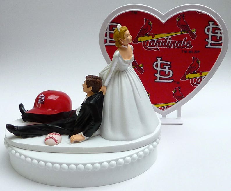 Wedding Cake Topper St Louis Cardinals Baseball Saint