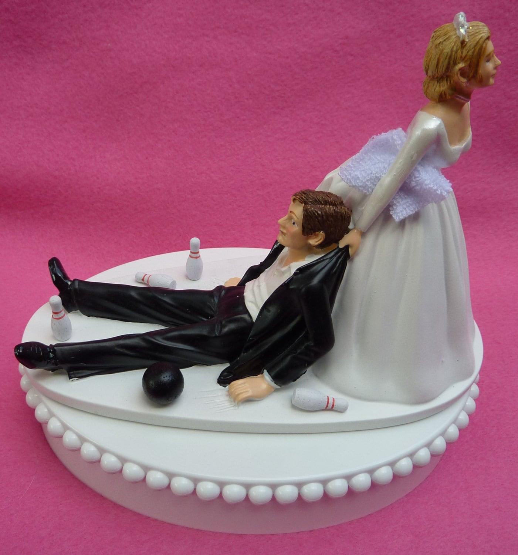 Wedding Cake Topper Bowling Bowler Ball Pins Towel Groom | Etsy