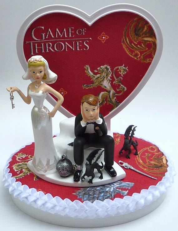 Wedding Cake Topper Game Of Thrones Themed Ball Chain Key Etsy