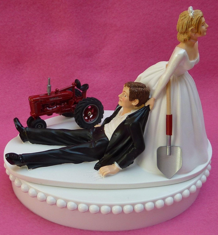 Wedding Cake Topper International Harvester IH Red Farmall | Etsy