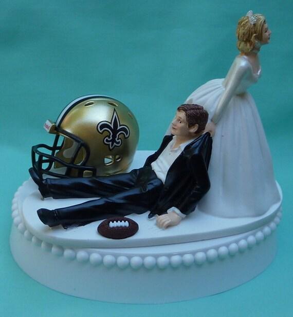Wedding Cake Topper New Orleans Saints Football Themed W Etsy