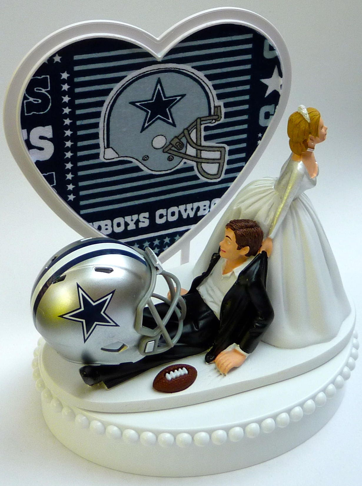 Wedding Cake Topper Dallas Cowboys Football Themed W