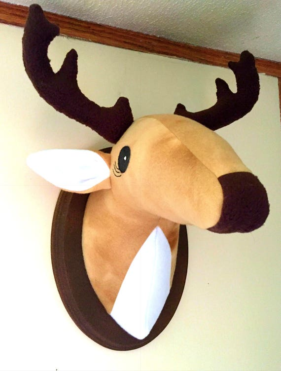 Stuffed Mounted Deer Head Faux Animal Head Stuffed Animal Etsy