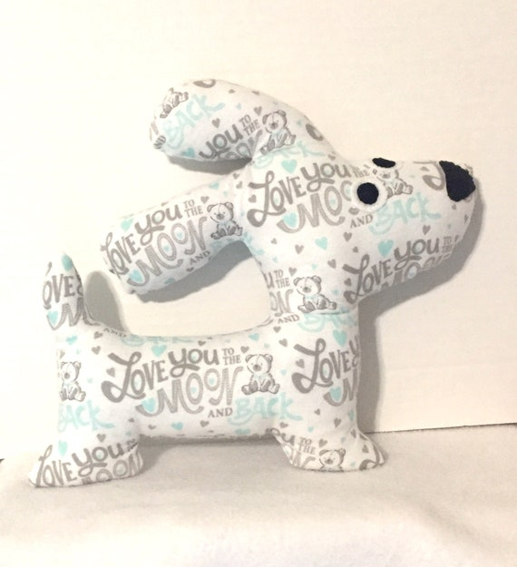 Stuffed Puppy Dog Love You To The Moon And Back Stuffed Etsy
