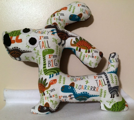 128d3e1ccfe Stuffed Dinosaur theme Dog   Stuffed doggy pillow   Stuffed