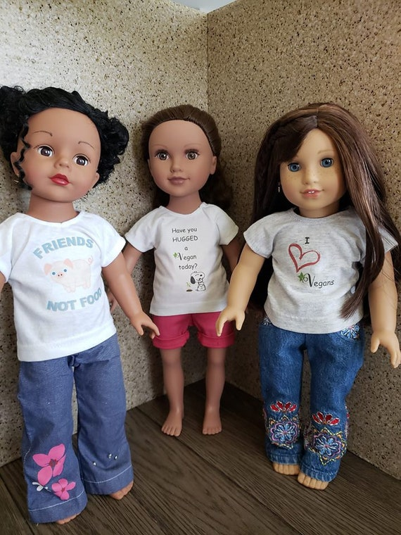 Dolls Accessories 18 Inch  Doll T-shirt For Kids Gifts YF