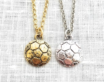 Soccer Necklace, Mom Gifts, Soccer Ball Necklace, Girls Sports Decor Jewelry, Soccer Team Gifts Accessories , A0020