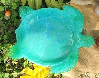 Epoxy resin cup table decoration in the shape of a turtle, small empty tray pocket